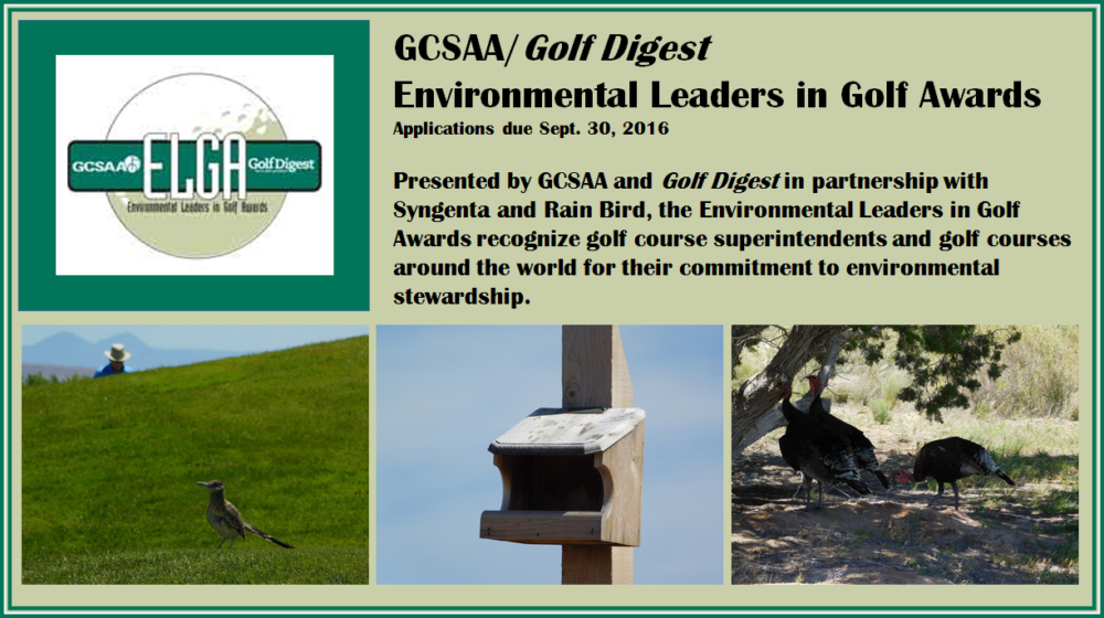 Environmental Leaders in Golf Awards – A great way to demonstrate your commitment to the environment!